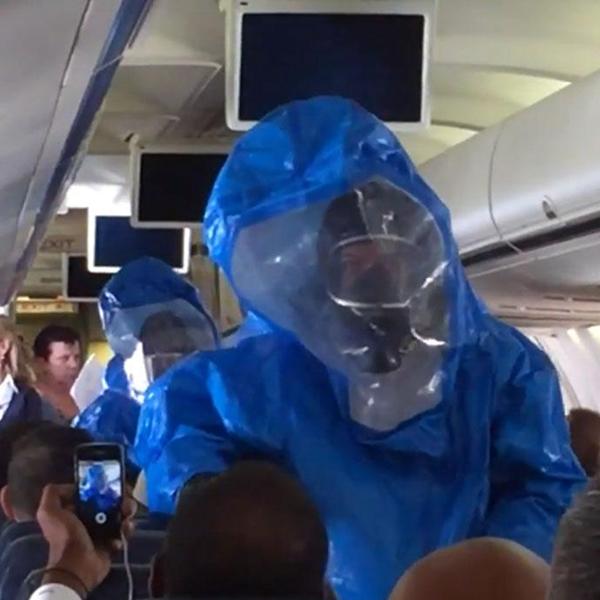 Эбола, самолет, шутка, Что произойдет, если пошутить на борту самолета про лихорадку Эбола