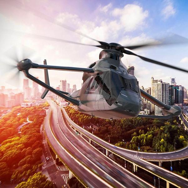 Airbus, вертолёт, самолёт, авиация, дрон, концепт, дизайн, RACER - концепт скоростного вертолета от Airbus Helicopters
