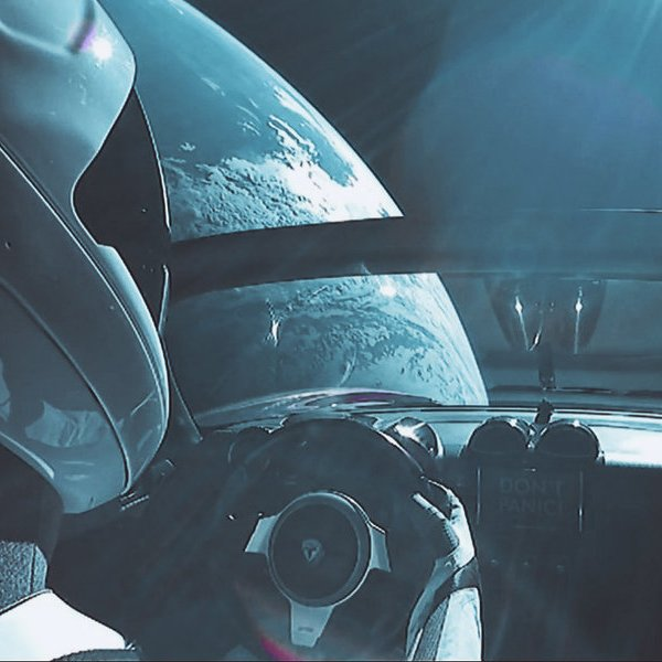 космос,авиация,автомобили, Запуск Falcon Heavy и первая Tesla в космосе