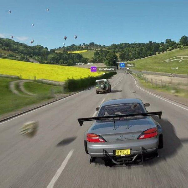 автомобили,игра, Microsoft показала геймплей Forza Horizon 4